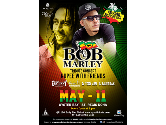 Bob Marley Tribute - Rupee with friends live in Doha, biletino, Candela Entertainment