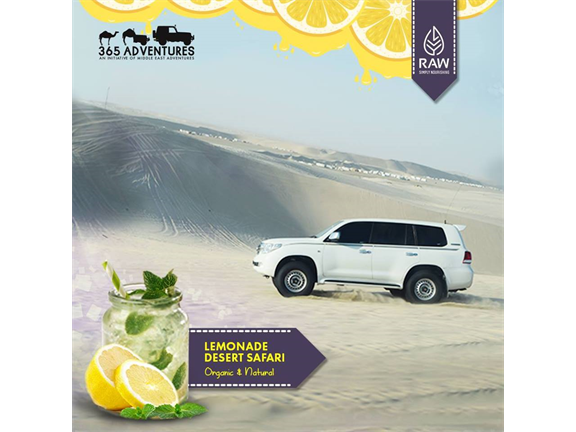 Sunset Iced Lemonade Safari, biletino, 365 Adventures - Qatar