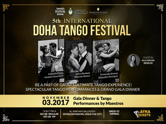 5th International Tango Festival Doha 2017, biletino, International Tango Festival Doha 2017