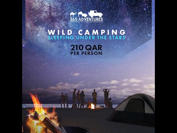 Sleeping Under the Stars (WIld Camping), biletino, 365 Adventures - Qatar
