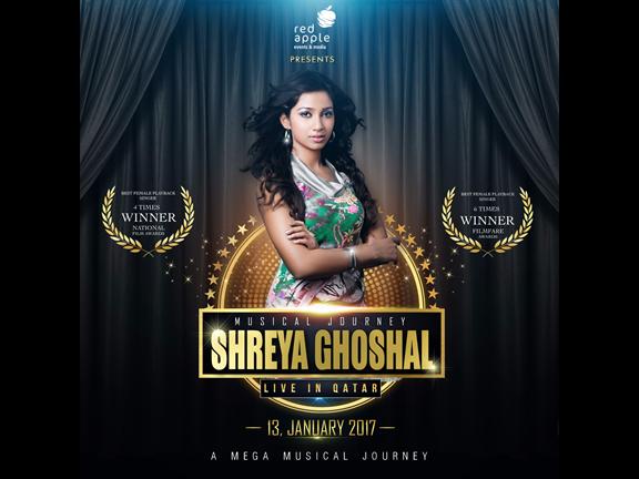 SHREYA GHOSHAL LIVE IN DOHA, biletino, Red Apple Events & Media