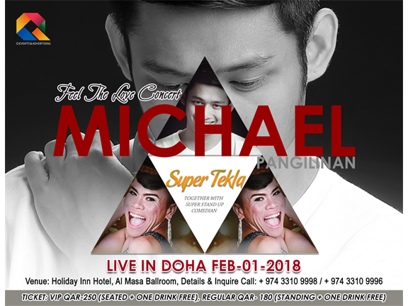 Michael Pangilinan with super stand up comedian Super Tekla, biletino, Q EVENTS AND ADVERTISING