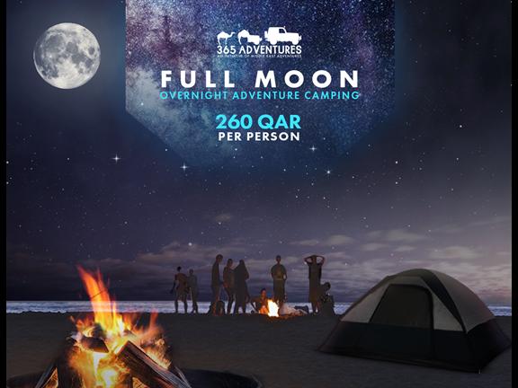 Full Moon Overnight Adventure Camping, biletino, 365 Adventures - Qatar
