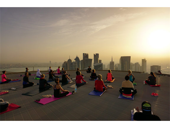 Helipad Sunset Yoga , biletino, Evo Fit