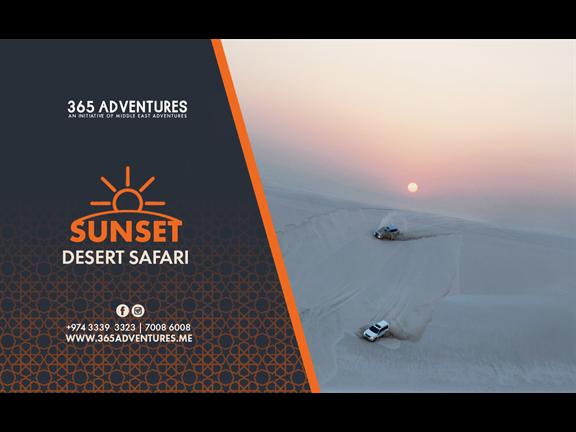 Sunset Desert Safari (Shared) - 6 July, biletino, 365 Adventures - Qatar