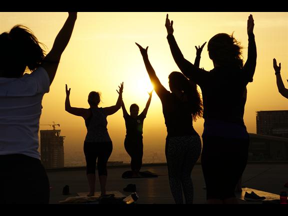Global Wellness Day Helipad Yoga and Iftar , biletino, Evo Fit