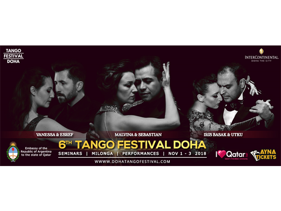 6th International Tango Festival Doha 2018, biletino, International Tango Festival Doha 2017