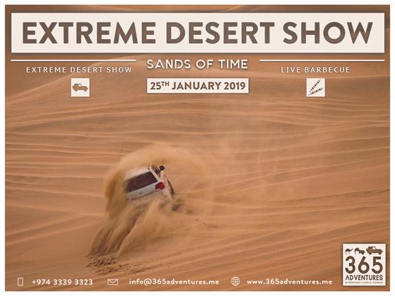 Extreme Desert Show & BBQ (Sands of Time), biletino, 365 Adventures - Qatar