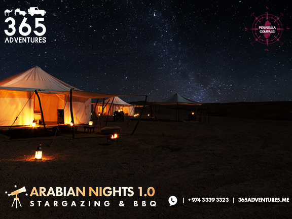 Arabian Nights 1.0: Desert Safari, Stargazing & BBQ, biletino, 365 Adventures - Qatar