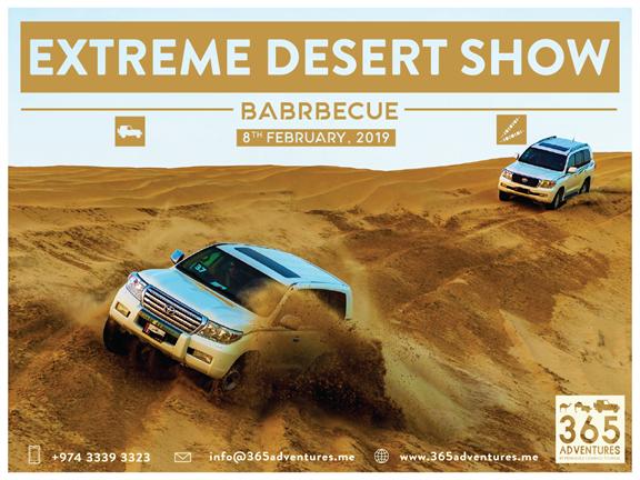 Arabian Nights 4.0 - Extreme Desert Show & BBQ, biletino, 365 Adventures - Qatar