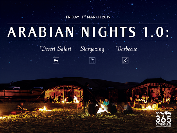 Arabian Night 1.0: Desert Safari, Stargazing & BBQ, biletino, 365 Adventures - Qatar