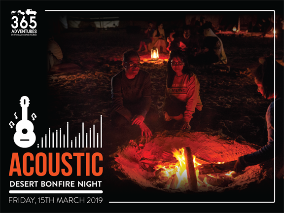 Acoustic Bonfire Night at the Inland Sea, biletino, 365 Adventures - Qatar