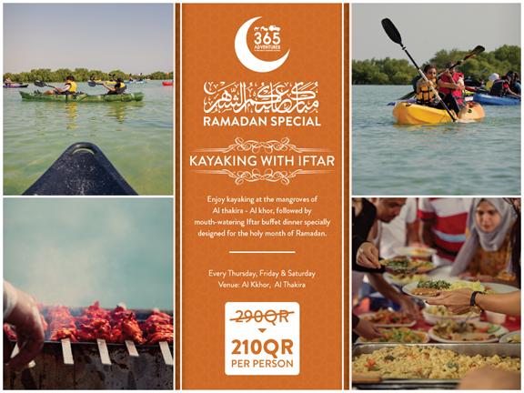 Kayaking with Iftar (Ramadan Special), biletino, 365 Adventures - Qatar