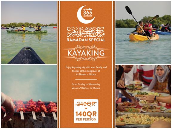 Weekday Kayaking (Ramadan Special), biletino, 365 Adventures - Qatar