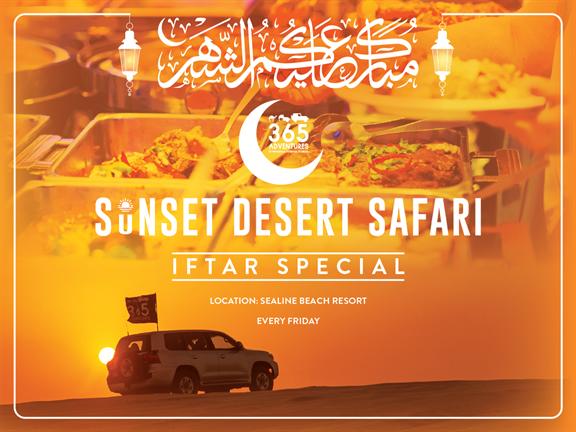 Sunset Desert Safari with Iftar, biletino, 365 Adventures - Qatar