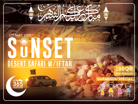 Garangao Special - Sunset Desert Safari with Iftar, biletino, 365 Adventures - Qatar