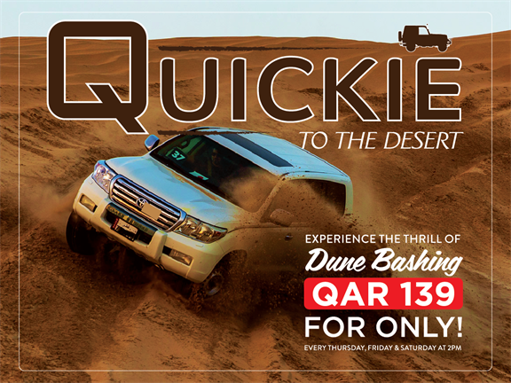 Quickie to the Desert QAR 139 OFFER (JUNE 2019), biletino, 365 Adventures - Qatar