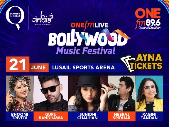 ONE FM LIVE BOLLYWOOD MUSIC FESTIVAL, biletino, ONE FM QATAR