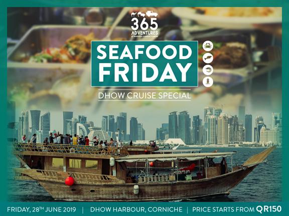 Seafood Friday Dhow Cruise, biletino, 365 Adventures - Qatar