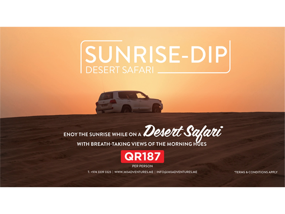 Desert Safari Sunrise Dip, biletino, 365 Adventures - Qatar