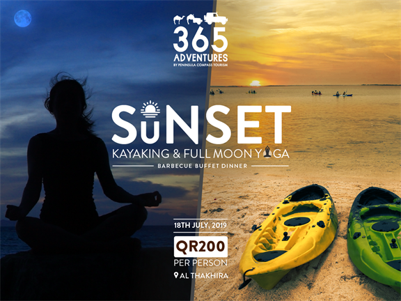 Sunset Kayaking & Full Moon Yoga, biletino, 365 Adventures - Qatar