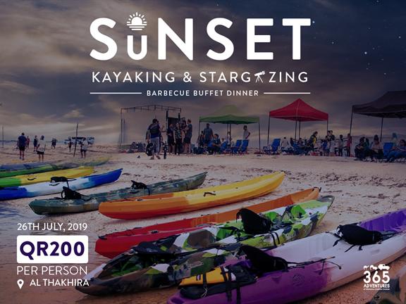 Sunset Kayaking, Stargazing & BBQ, biletino, 365 Adventures - Qatar