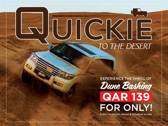 Quickie to the Desert QAR 139 OFFER (OCTOBER 2019), biletino, 365 Adventures - Qatar