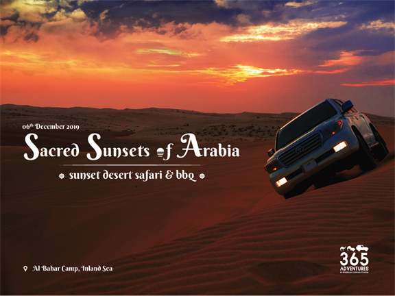 Sacred Sunsets of Arabia, biletino, 365 Adventures - Qatar