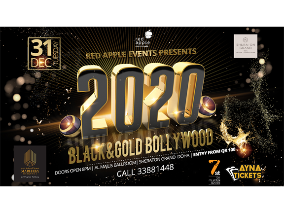 BLACK AND GOLD BOLLYWOOD NEW YEARS EVE 2020, biletino, Red Apple Events & Media