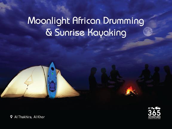 Moonlight African Drumming & Sunrise Kayaking, biletino, 365 Adventures - Qatar