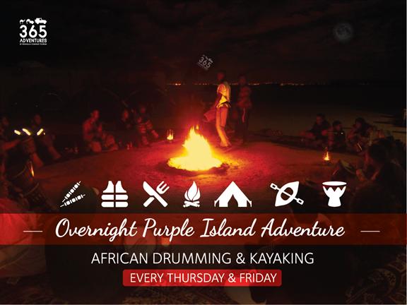 Overnight Purple Island Adventure - African Drumming & Kayaking - SIC, biletino, 365 Adventures - Qatar