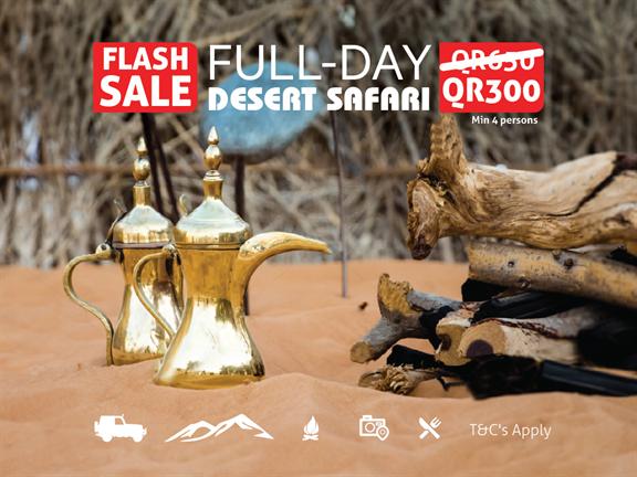 FLASH SALE - Full Day Desert Safari, biletino, 365 Adventures - Qatar