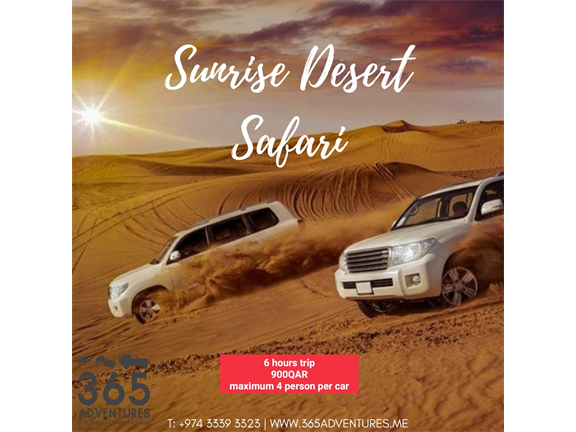 Sunrise Desert Safari, biletino, 365 Adventures - Qatar