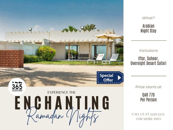 Ramadan Nights (Desert Safari with Iftar & Suhoor), biletino, 365 Adventures - Qatar