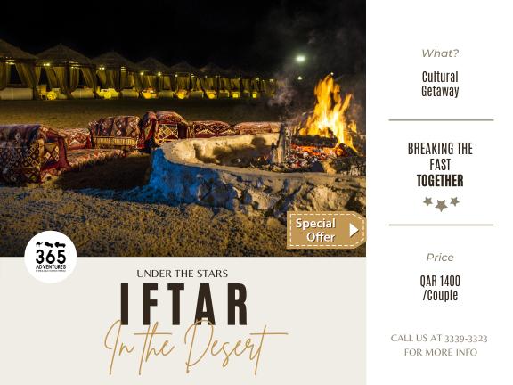 Ramadan Special - Iftar in the Desert, biletino, 365 Adventures - Qatar