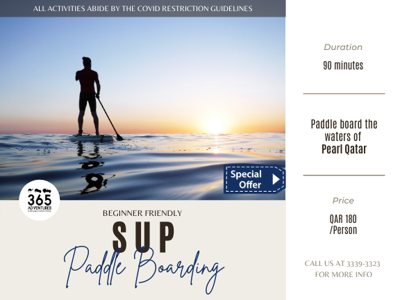 Stand Up Paddle Board in the Pearl, biletino, 365 Adventures - Qatar